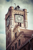 Gothic tower of town hall in Torun-city on The World Heritage Li — Stock Photo