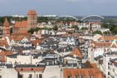 Poland - Torun, city divided by Vistula river between Pomerania — Stock Photo
