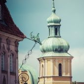 WARSAW, POLAND - JULY  08, 2015 Old town in Warsaw, Poland. The — Stock Photo
