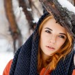 Beauty woman in the winter scenery. — Stock Photo #63707481