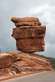 Zrównoważony rock w colorado springs — Zdjęcie stockowe