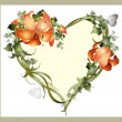 Decorative heart.  Vintage postcard with ivy and lily.   — Stock Vector #62219783