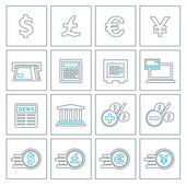 Financial and money thin line icons set — Stock Vector