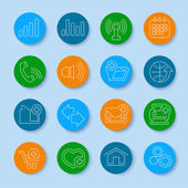 Thin line web icons set — Stock Vector
