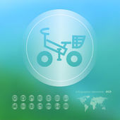 Ecology icon on the blurred background — Stock Vector