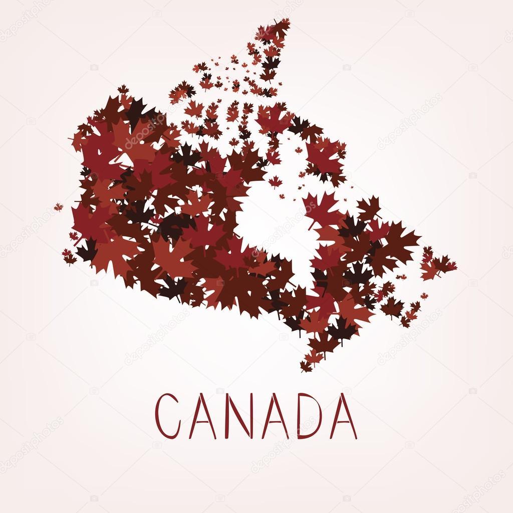 枫叶加拿大的地图
