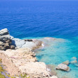Rocky sea coast on Crete island — Stock Photo #52683953