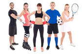 Different sports concept - young people in spotswear isolated on — Stock Photo