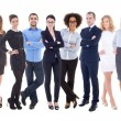 Team work concept - large set of business people isolated on whi — Stock Photo #74351147