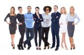 Team work concept - large set of business people isolated on whi — Stock Photo