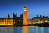 London Big Ben at night — Foto Stock