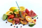 Vruchten en limonade — Stockfoto
