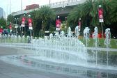 Garden fountain — Stock Photo