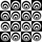 Seamless Monochrome Geometric Background — Stock Vector