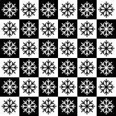 シームレスな雪片のパターン — ストックベクタ