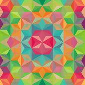 Padrão de triângulo colorido. De fundo Vector — Vetor de Stock