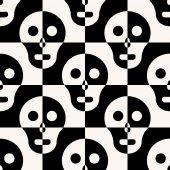 Seamless Skull Background — Stock Vector
