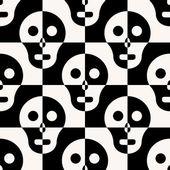 Seamless Skull Background — Vector de stock
