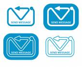 Send Message — Stock Vector