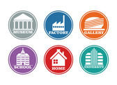 Construction and industrial icon set  — Stock Vector
