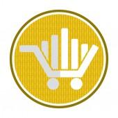 Market concept, shopping car icon — Stock Vector