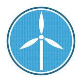 Wind power icon — Stock Vector