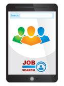 Job finder application screen — Stock Vector