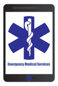 Medical emergency sign — Stock Vector