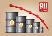 Crude oil price down — Stock Vector