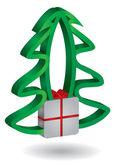 Christmas tree with Gift box — Stock Vector