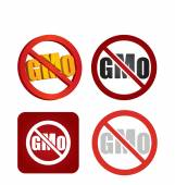 Non genetically modifies plants icon — Stock Vector