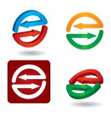 Set di icone frecce — Vettoriale Stock