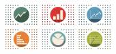 Abstract flat color icon set for your design — Stock Vector