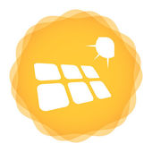 Solar energy template  — Stock Vector