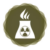 Radioactivity icon — Stock Vector