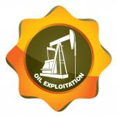 Oil exploitation station — Stock Vector
