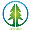 Ecological sign with pine tree — Stock Vector #76204091