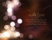 Romantic background with blur — Stock Vector