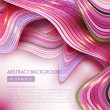 Pink abstract background with waves — Stock Vector #72924571