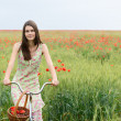 Woman with bicycle — Stock Photo #52014139