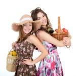 vrouwen houden manden — Stockfoto #52014761