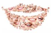 Perfect smiling faces — Stock Photo
