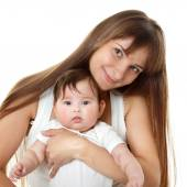 Young mother holding  baby girl — Stock Photo