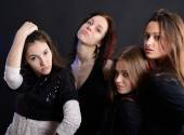 Party young women — Stock Photo