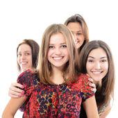 šťastné teen dívky — Stock fotografie