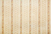 Vintage striped wallpaper with floral background — Stock Photo