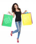 шоппинг женщина — Стоковое фото