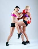 Deux femmes de boxe — Photo