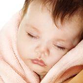 Cute sleeping baby — Stock Photo