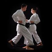 Coppia di karate di combattimento — Foto Stock